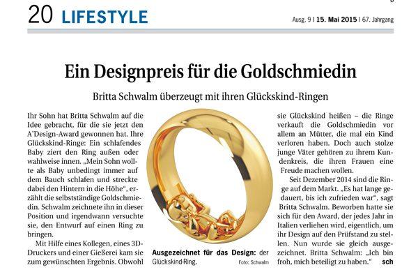 Glückskind® in der Deutschen Handwerks Zeitung