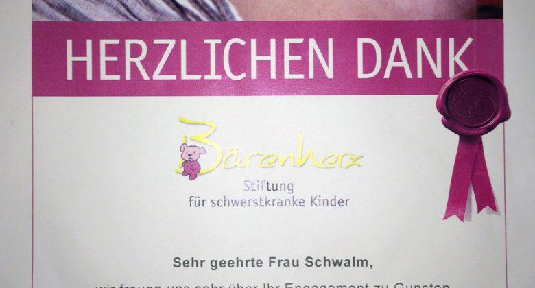Spende für Stiftung Bärenherz