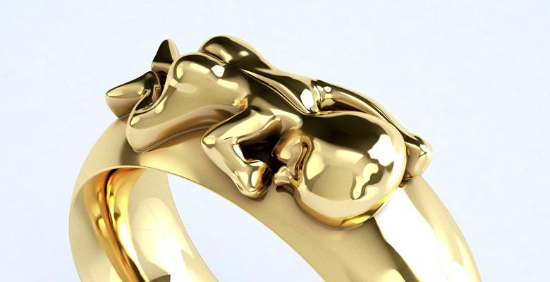 Ring Sam in 750 Gelbgold